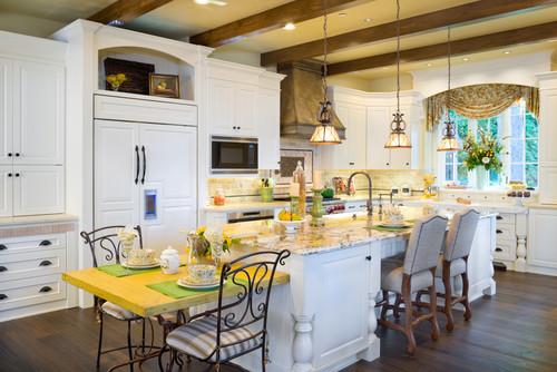 Custom European kitchen House by Alan Mascord Design Associates