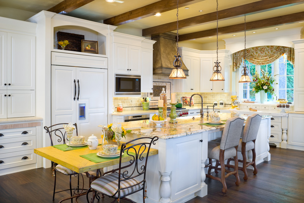 Inspiration for a timeless kitchen remodel in Portland with granite countertops