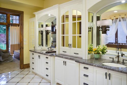 Master bathroom design by Alan Mascord Design Associates
