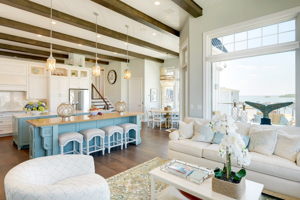Inspiration for a coastal kitchen remodel in Other