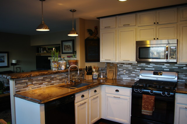 the rustic countertop rustic kitchen denver by all star