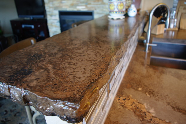 the rustic countertop rustic kitchen denver by all
