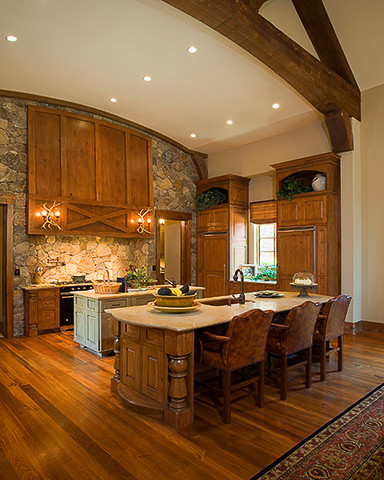 The Sanctuary - Rustic - Kitchen - charlotte - by Durham Designs & Consulting, LLC