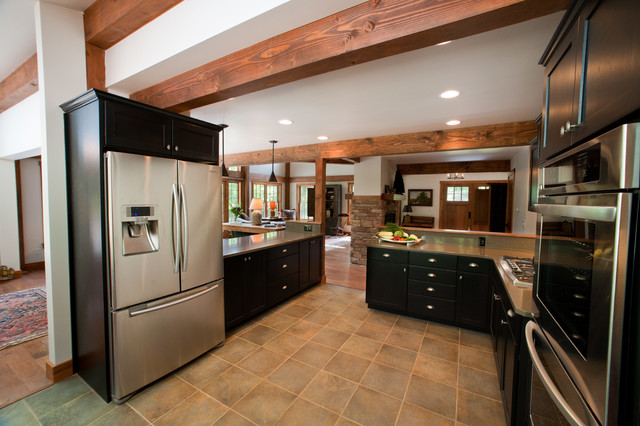 The Sawyer Post And Beam Barn Home Traditional Kitchen