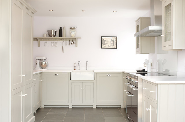 The Silverdale Shaker Kitchen by deVOL - Farmhouse - Kitchen - Other ...