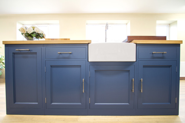 The Stiffkey Blue In-Frame Kitchen - Transitional - Kitchen - east anglia - by NAKED Kitchens