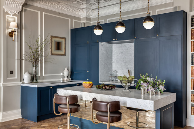 This is an example of a bohemian kitchen in London.