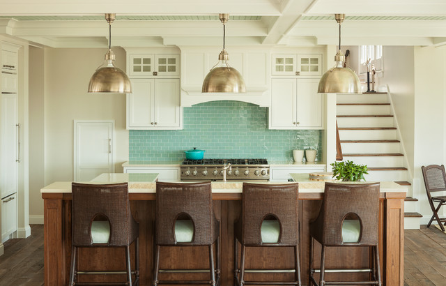 The Summer House Beach Style Kitchen Portland Maine By Js Interiors Llc
