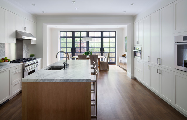 The Tall Townhouse Contemporary Kitchen New York By William Reue Architecture