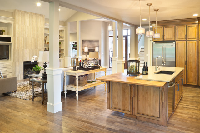 The vidabelo traditional kitchen portland by alan - Support pillars for houses ...