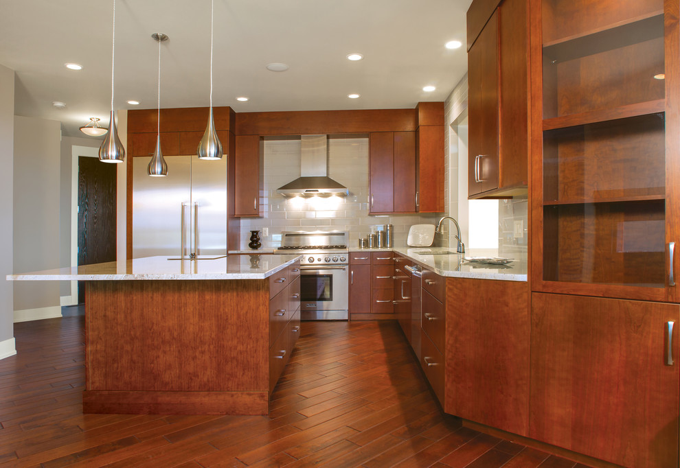 The Warmth of Cherry - Contemporary - Kitchen - Seattle ...