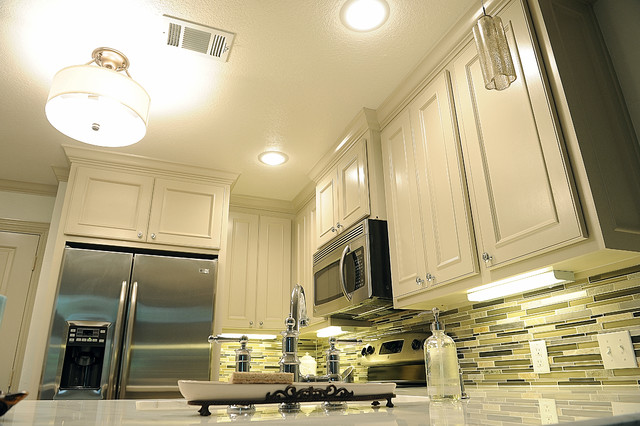 The Woodlands townhome kitchen remodel traditional-kitchen