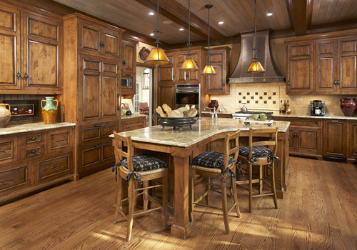 What stain color are on these cabinets? Are they knotty ...