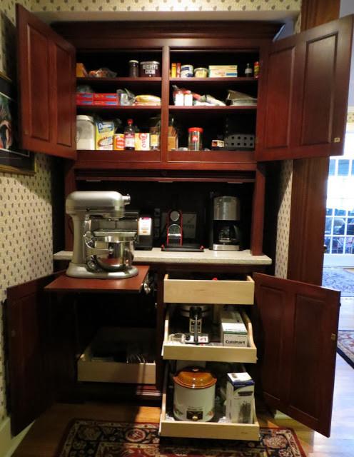 Coffee Bar Kitchen: The Working Pantry /Baking Center / Coffee Bar
