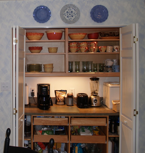 The Working Pantry / Invaluable Hidden Workspace Eclectic Kitchen