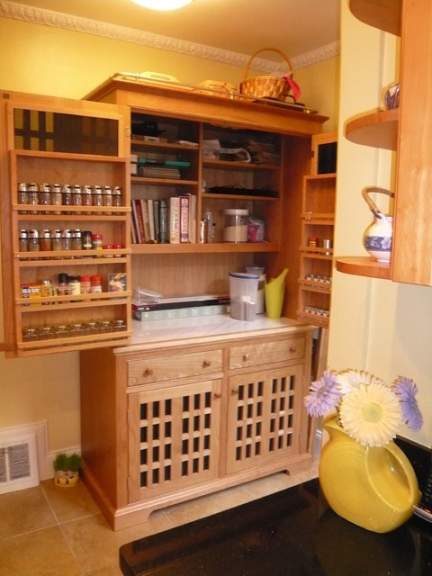 The Working Pantry / The Modern Hoosier - Contemporary - Kitchen - other metro - by YesterTec ...