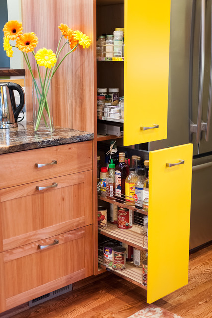 The Yellow Cabinet Kitchen And Mudroom Eclectic Kitchen Portland By Fraley And Company