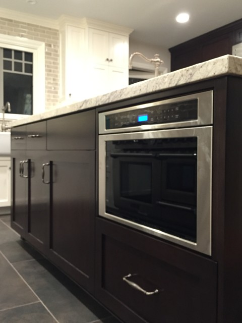 Thermador microwave oven transitional-kitchen