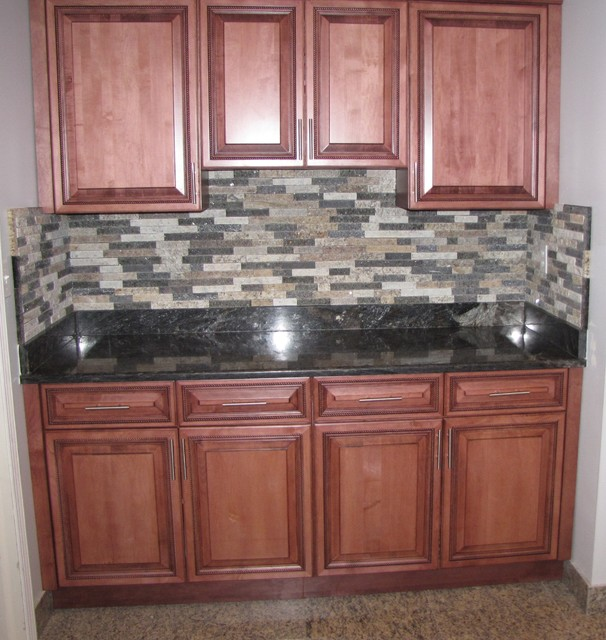 thin stone veneer traditional kitchen detroit by ecogranite