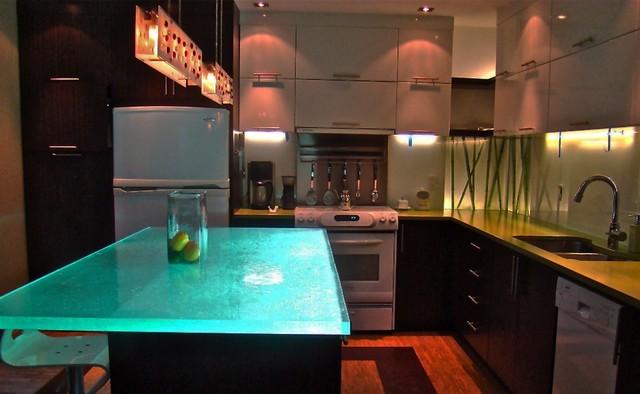 Wonderful ThinkGlass Glass Countertops Kitchen