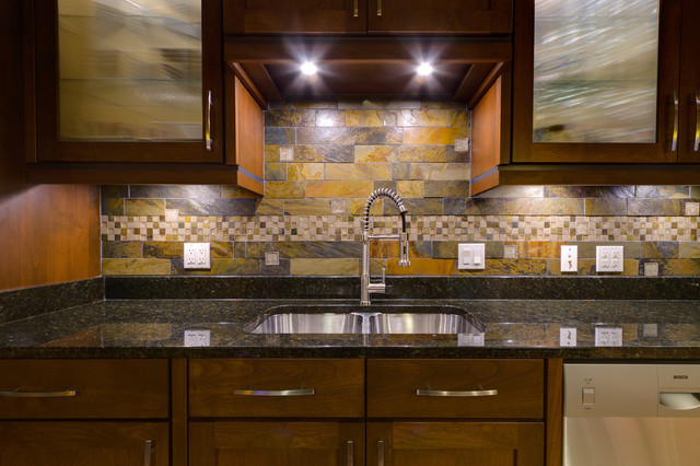 Third Ward Backsplash Contemporary Kitchen Milwaukee By Ancora Stone And Tile Llc