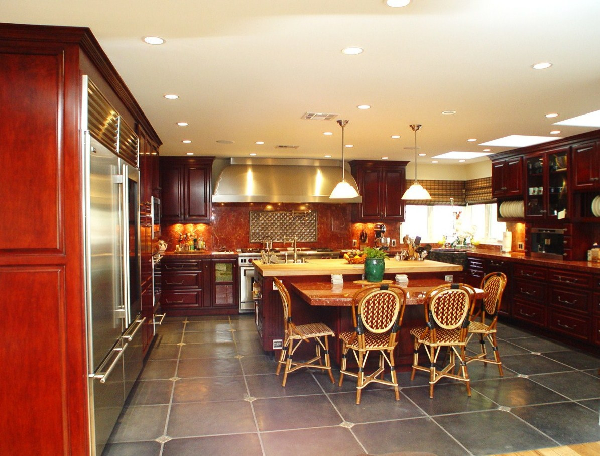 This is a big kitchen but very warm and inviting.