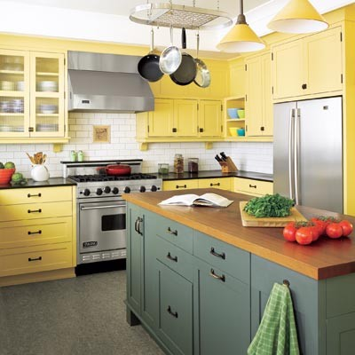 This Old House - Low cost, high style kitchen upgrades eclectic kitchen