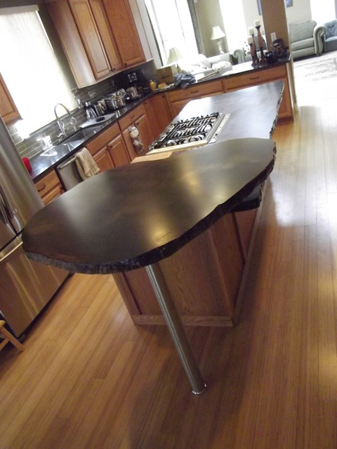 Thomas Concrete Countertop Island eclectic-kitchen