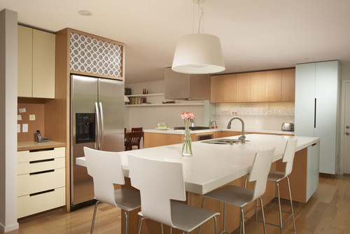 modern kitchen Pretty in Pastels