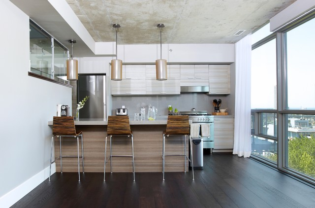 Thompson Residences Penthouse Suite Contemporary Kitchen Toronto By Nest Design Studio