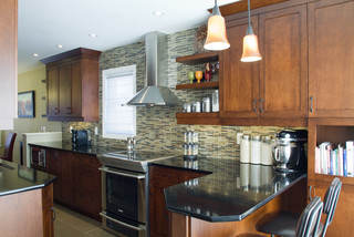 Jc1005 Warm And Earthy Eclectic Kitchen Ottawa By Copperstone Kitchens