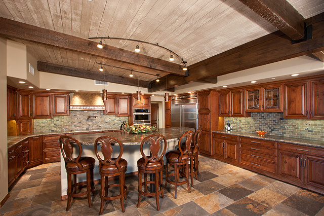 Thunder Mountain Road Remodel traditional-kitchen