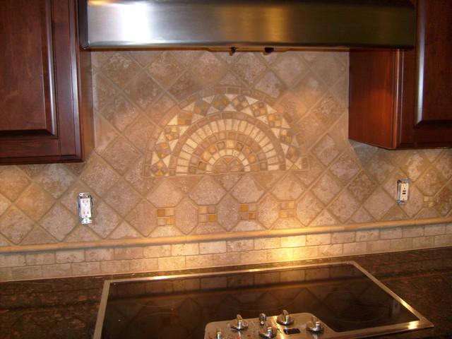 Tile Backsplashes Mediterranean Kitchen