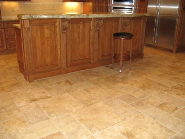Tile Floor Pattern Traditional Kitchen Other Metro