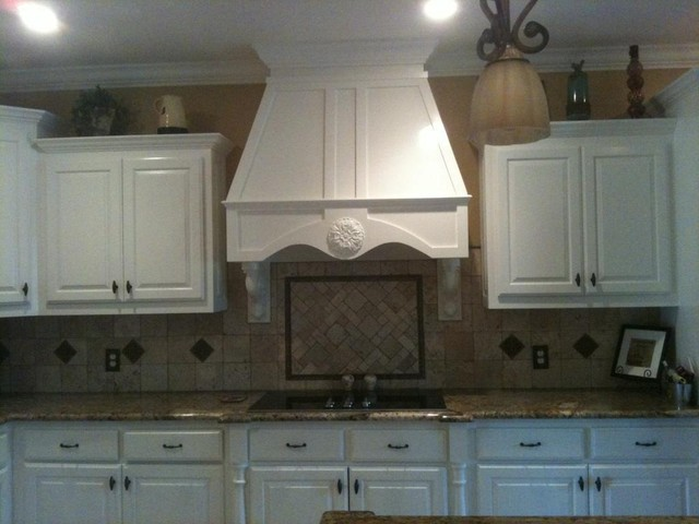 Tile, paint, trim, staircase, and design kitchen