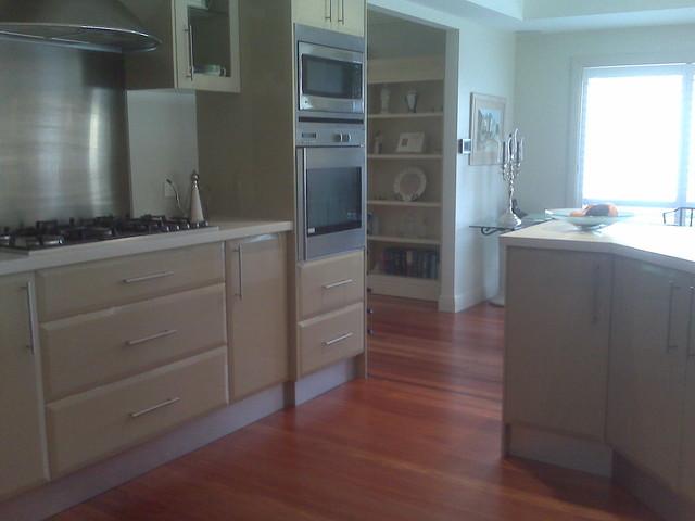 Timber flooring in Sydney modern-kitchen