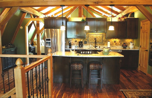 Timber Frame Barn Apartment In Middle Tennessee Craftsman Kitchen