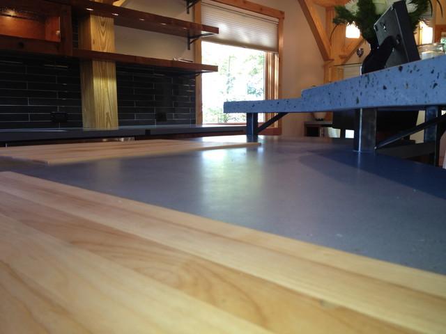 Timber Frame Hybrid contemporary-kitchen