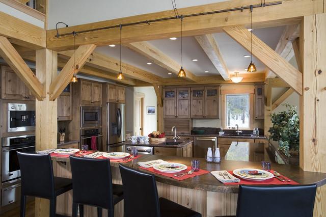 Timber Frame Kitchen Designs Traditional Kitchen