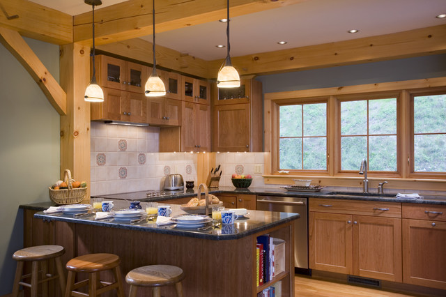 Timber Frame Kitchen Designs Traditional