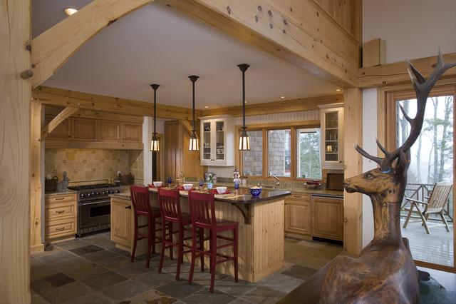 Timber frame kitchen designs traditional-kitchen