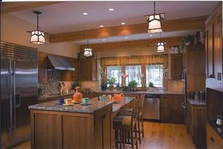 timber frame kitchen designs - traditional - kitchen - denver -