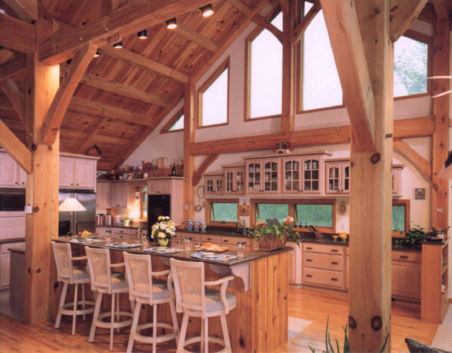 Timber Frame Kitchen Eclectic Kitchen Other Metro