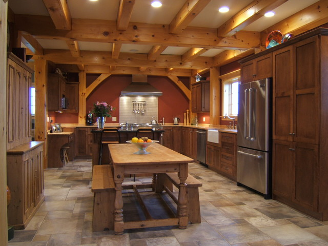 Timber frame kitchens kitchen other metro by for Beautiful a frame homes