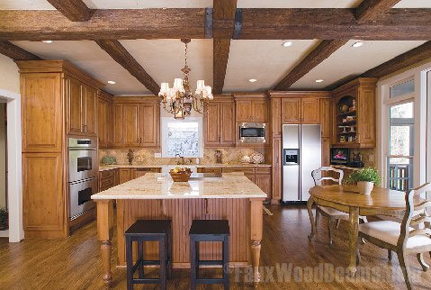 Timber kitchen beams traditional kitchen other metro for Decorative beams in kitchen