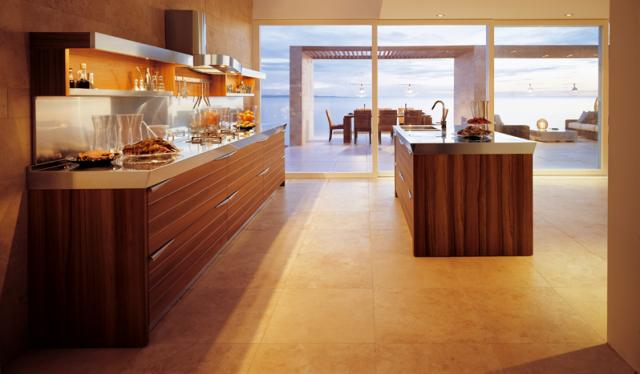TIME by Lucci Orlandini design - Teak wood contemporary-kitchen