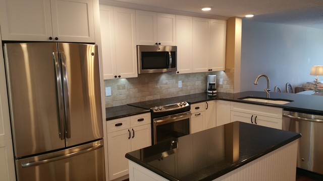 Timeless classic in st pete beach traditional kitchen for Classic kitchen cabinets inc