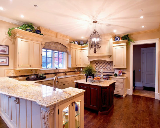Kitchen Design Photos with Stainless Steel Appliances and Beige