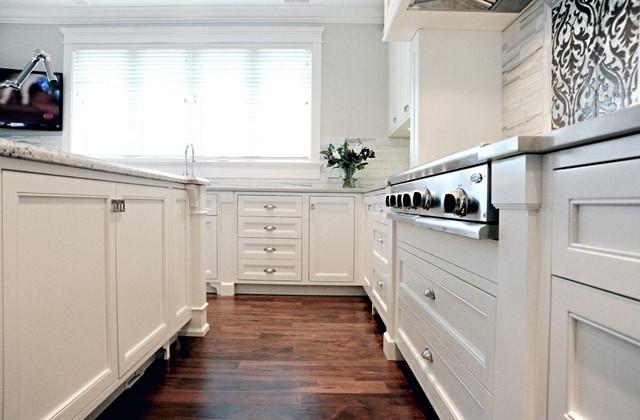 Timeless Kitchens Ltd. Wall Clocks Modern. Wood Wallpaper. Sofa Modern. Dash And Albert Runner. Small Outdoor Fireplace. White Wood Flooring. Furniture Land South. Hexagon Bathroom Tile