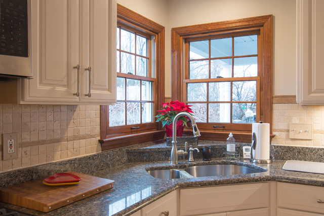 Timeless Traditional Kitchen With Corner Sink And Granite Countertops American Traditional Kitchen Other By Pittsburgh S Best Remodeling